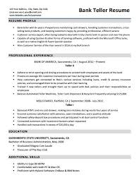 Sample Banker Resume Resume Sample