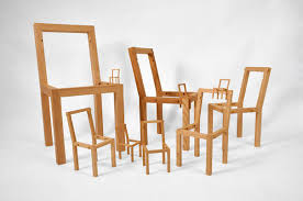 archetype furniture. Taking The Chair Archetype And Placing Within It Chairs That Are Progressively Smaller. Each Has Hand Cut Grooves On Inside Edges Of Its Seat Furniture