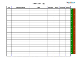 cash log template cash log oyle kalakaari co