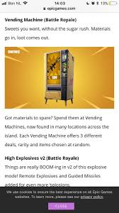 Vending Machine Information Extraordinary Information About New Vending Machine Fortnite Battle Royale