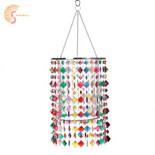 E27 Colorful Kids Lampshade For Chandelier Light Acrylic Beads Lamp