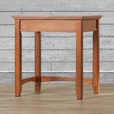 atlas chunky oak hidden home. Isaak Corner Table In Medium Brown Oak Atlas Chunky Hidden Home C
