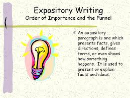expository writing in a cooking world this is a worthwhile expository writing applied to a paragraph slide1