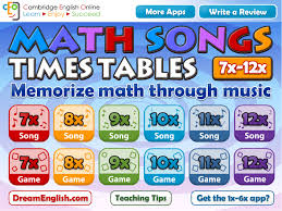 Math Songs: Times Tables 7x - 12x HD | Apps | 148Apps