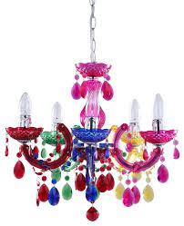 5 light marie therese chandelier multicoloured