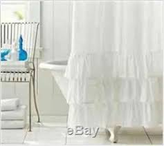 white ruffle shower curtain. White Ruffle Shower Curtain F