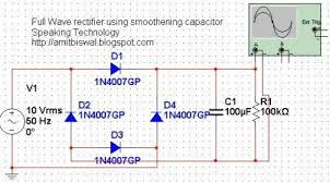 full wave bridge rectifier circuit multisim simulation coming to the simulation of this circuit the circuit diagram drawn using the ni multisim is shown below
