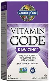 Garden of Life Vitamin Code Raw Zinc, 30mg Whole ... - Amazon.com