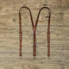 personalised leather suspenders
