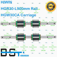 New Original <b>HIWIN Linear Guide 2pcs</b> 30mm Rail HGR30 L900mm ...