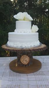 Wood Cupcake Stand Personalized Cake Stand Log Cake Stand Tree
