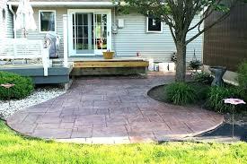 backyard cement patio ideas outdoor