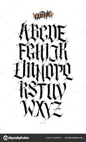 готика английский алфавит векторный набор шрифт тату личных