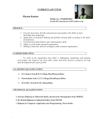 Convert Resume To Cv Extraordinary Shyam Kumar Updated Resume