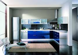 Interior Kitchen Picture Of Amazing Minimalis Interior Kitchen High Tech Style Blue