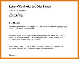 Ideas Collection Nice Job Rejection Letter Sample Awesome Job Offer