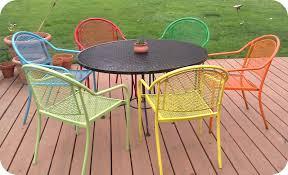 refinishing metal outdoor furniture regarding comfy beautiful