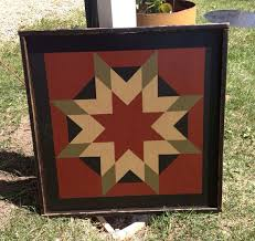 PriMiTiVe Hand-Painted Barn Quilt Small Frame 2' x 2' & Like this item? Adamdwight.com