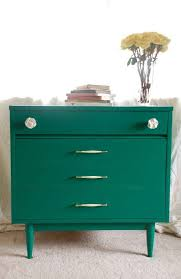 modern painted furniture. Mid Century Modern Chest Of Drawers In The 2013 Color Year Emerald Painted Furniture