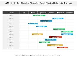 Gantt Chart Project Template 6 Month Project Timeline Displaying Gantt Chart With