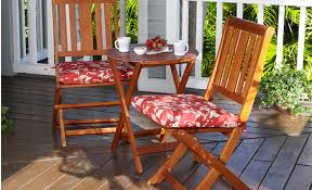 patio small patio tables patio furniture red flowery chair seat pad with wooden chair