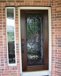Wood and Wrought Iron Door: Milan Full Lite Mahogany Door with ...