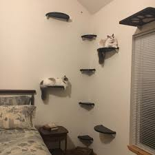 8pc corner wall cat tree tower lunar collection modern for plan 7