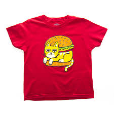 In The Shirt Cat Burger Tee Pancake Attack