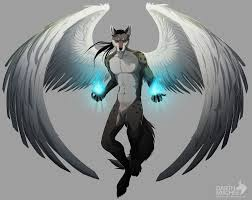 white wolf drawing anime. Delighful White Fire Wolf Anime With Wings In White Drawing F