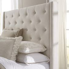 cushion headboard queen. Brilliant Cushion Lovable Queen Size Upholstered Headboard Wingback Button Tufted Cream  Throughout Cushion
