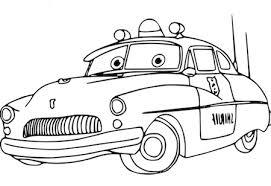 Disegno Della Macchina Della Polizia Di Cars Sceriffo Da Colorare