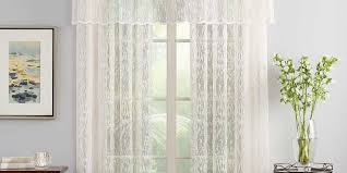 sheer lace window curtain panel