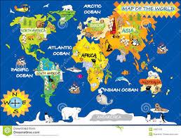 download map world children  major tourist attractions maps