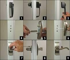 how to install a storm door handle