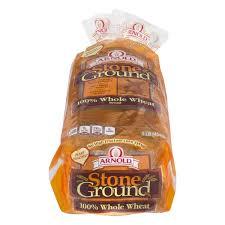 stone ground bread brownberryarnoldoroweat stone ground 100 whole wheat bread stone ground bread nutrition facts