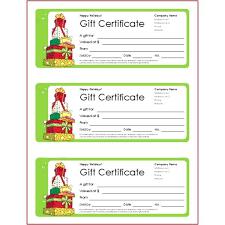 Printable Christmas Certificates Blank Christmas Gift Certificate Template Escopetaoil Co