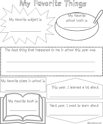 school memory book favorite things com enchanted learning search