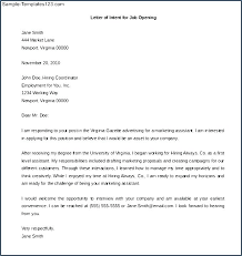 letter of intent job sample letter of intent for a position template teaching job sample