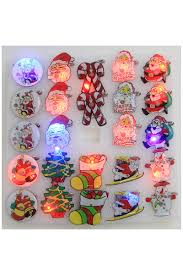 Christmas Brooches With Lights 24pcs Assorted Color Christmas Theme Light Up Brooch