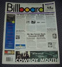 Top Charts 1997 Billboard Magazine March 22 1997 U2 Tops Charts Back Issue