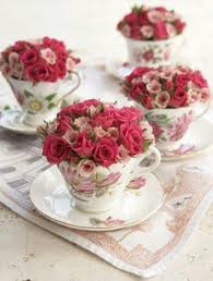 Decorating With Teacups And Saucers Sweet flowers in a teacup Idea reuse old teacups saucers and 29