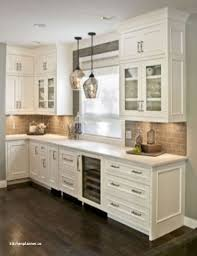 Homewedding Modern White Kitchen Cabinets With Black Countertops