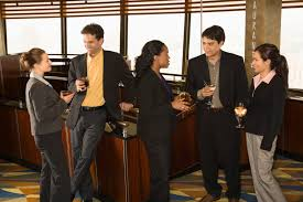 people standing in elevator. business people in bar. standing elevator a
