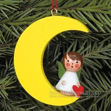 Gold Mond Mini Engel Christbaumschmuck Weihnachtsbaumschmuck