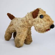 Antique Stuffed Dog Plush Terrier - May ...