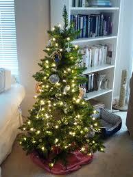 ... small apartment decorating ideas corner christmas tree  Colorful .