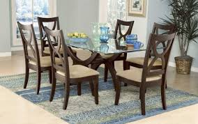 sets glass wood contemporary tables and wooden san dining chairs round table room modern set seater
