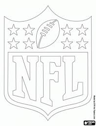 Small Picture Logo of the NFL National Football League coloring page Food