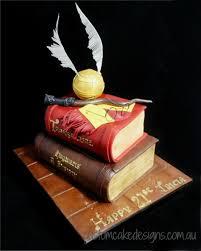 Harry Potter Stacked Books Cake 2 Books Cakecentralcom