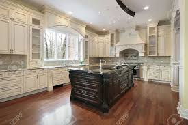 Granite Island Kitchen Large Kitchen In New Construction Home With Granite Island Stock